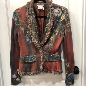 Stunning Alberto Makali boho sweater  jacket